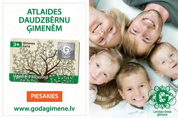 Noslēgts sadarbības līgums par atbalstu Latvijas Goda ģimenēm